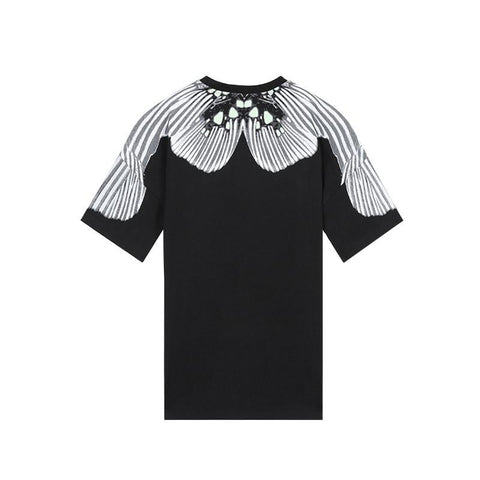 Striped PatchworkVisual Tee - d'143 Men's Clothing