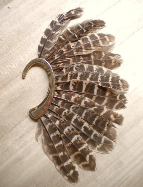 Feather Ear Cuff - d'143 Men's Clothing