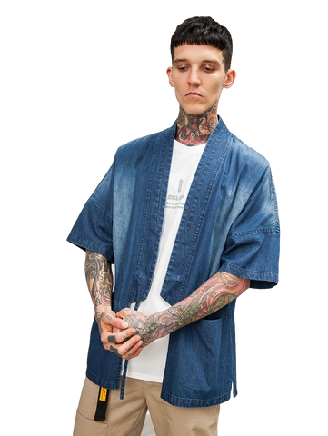 Japanese Kimono Inspired Lightweight Jacket for Men | DENIM