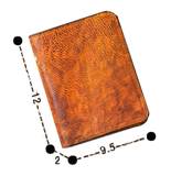 Retro Vintage Handmade Leather Wallet for Men - d'143 Men's Clothing