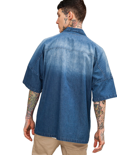 Japanese Kimono Inspired Lightweight Jacket for Men | DENIM - d'143 Men's Clothing
