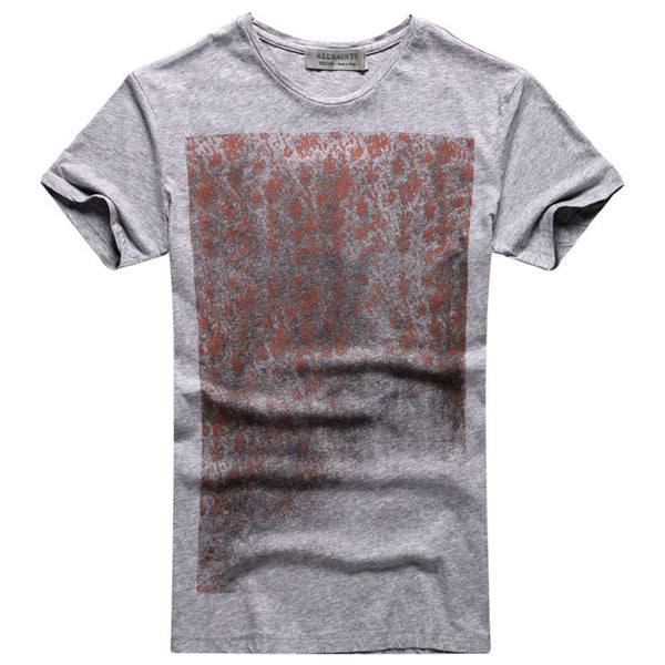 Faded Retro Silhouette T-Shirt - d'143 Men's Clothing