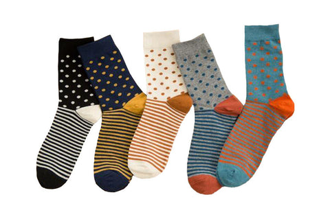 High Quality Contrast Color Socks - d'143 Men's Clothing
