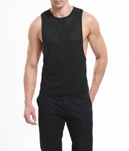 Slim Fit Nylon Tank Top - d'143 Men's Clothing