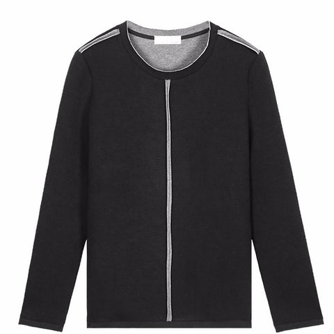 Casual Black O-Neck Sweatshirt - d'143 Men's Clothing