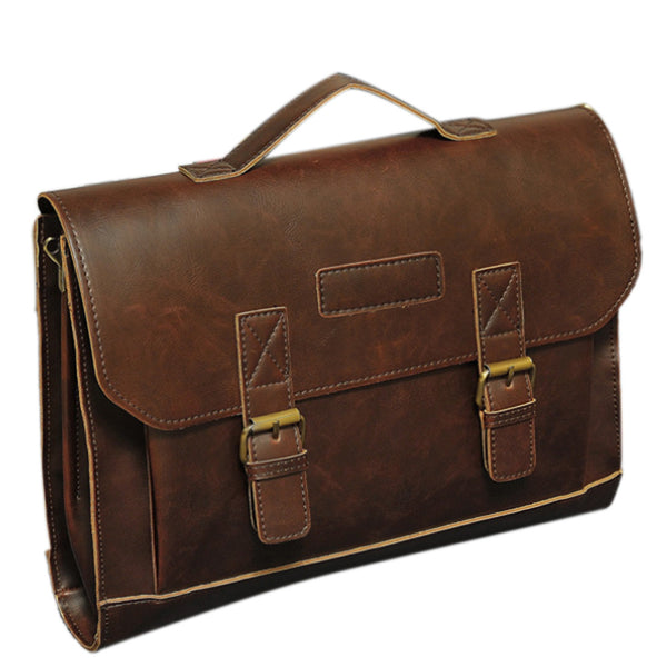 Single Shoulder Vintage Portfolio Messenger Bag - d'143 Men's Clothing