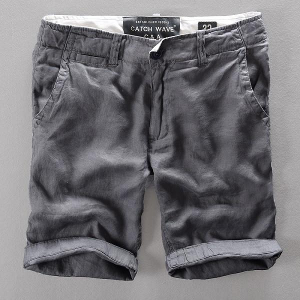 Linen Loose Casual Shorts - d'143 Men's Clothing