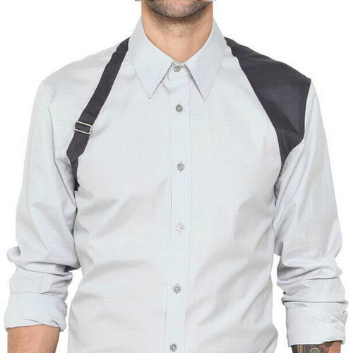Harness Patched Button-Up Shirt - d'1four3 Mens's Fashion - d'143 Men's Clothing