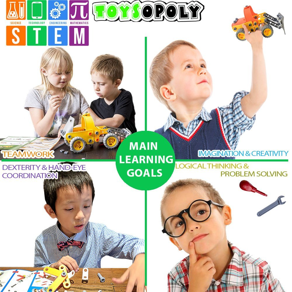 ToysOpoly STEM Toys Kit 5-in-1 Build and Play