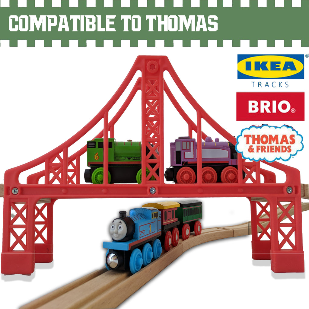 Train Tracks - Double Suspension Bridges