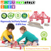 kids red train tracks bridges 2