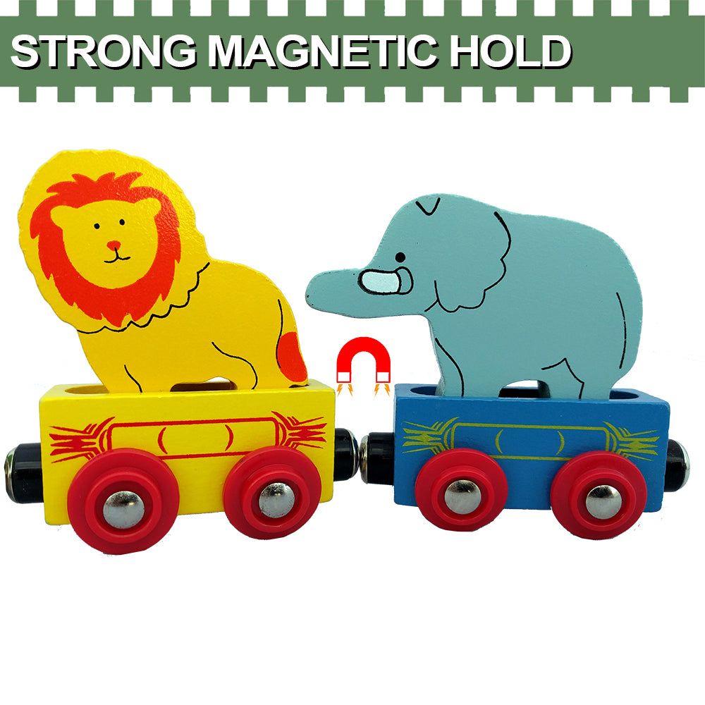 Lion and Elephant Train Toys