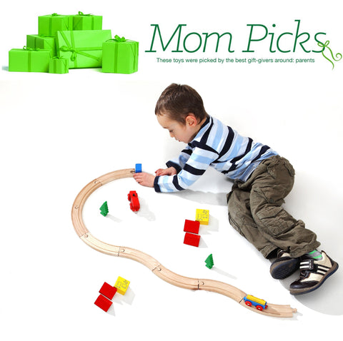 boy kids playing train tracks