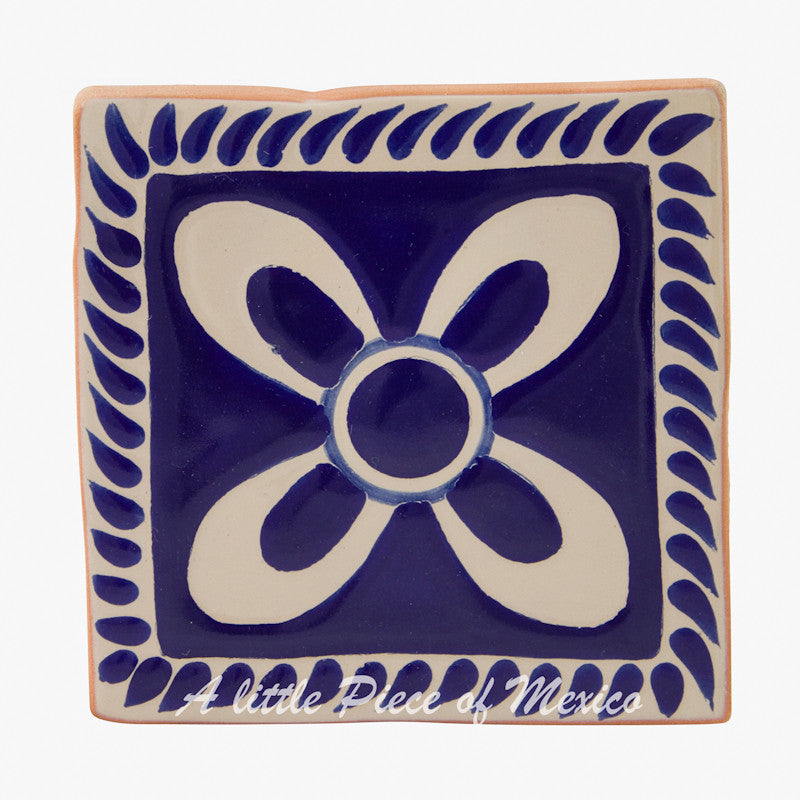 Talavera Tile - Blue and White Floral