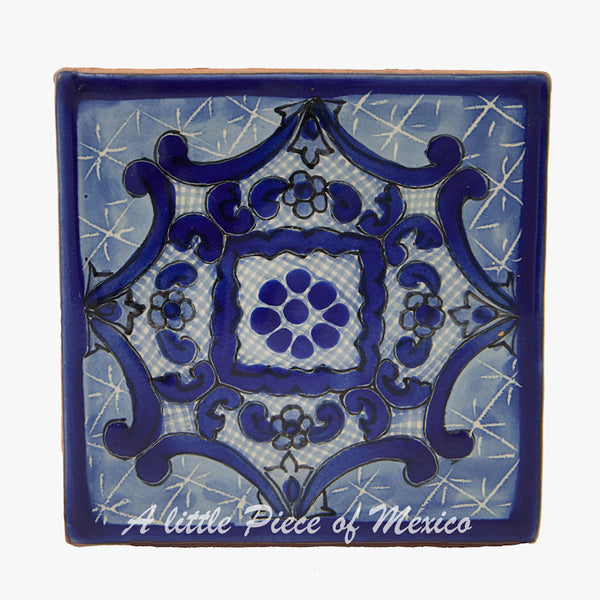 Talavera Tile - Blue and White