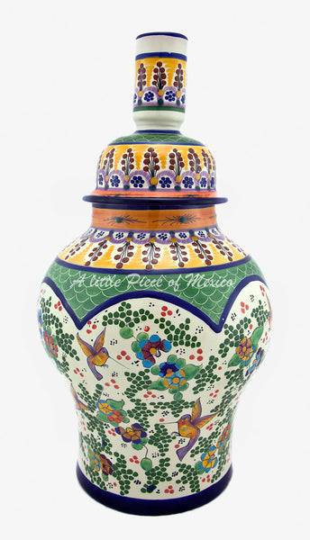 Talavera Lamp - Green Feature