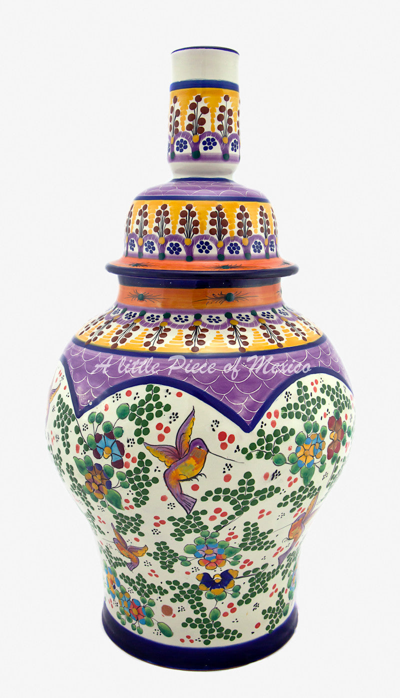 Talavera Lamp - Purple Feature