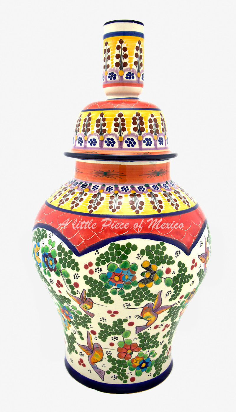 Talavera Lamp - Red Feature – A Little Piece of Mexico