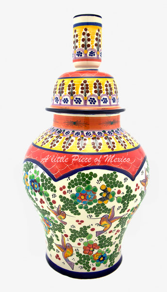 Talavera Lamp - Red Feature