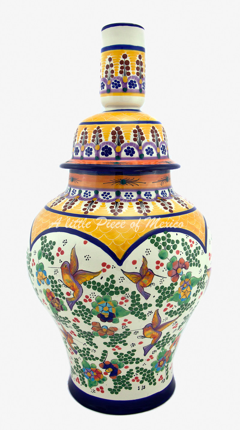 Talavera Lamp - Yellow Feature – A Little Piece of Mexico