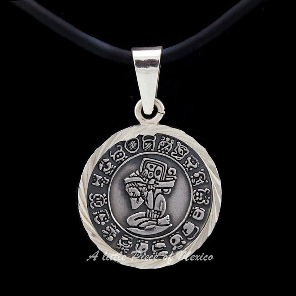 Silver Pendant - Short count Mayan Calendar and the Carrier of time