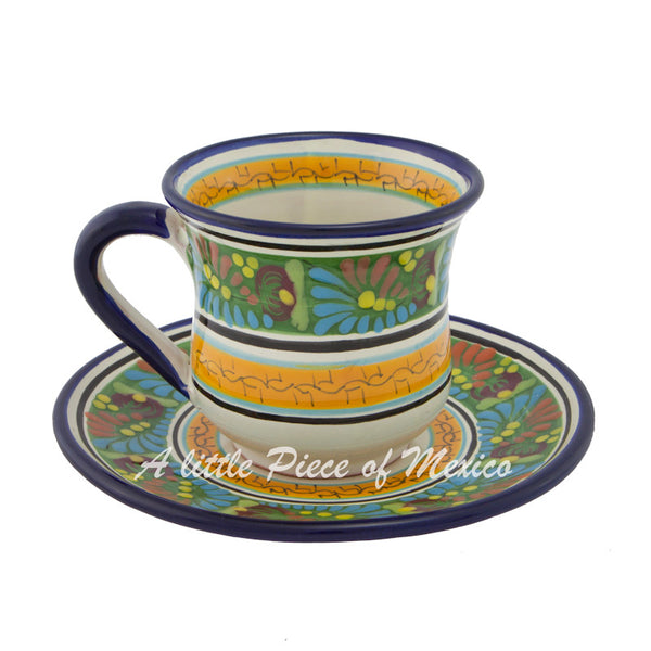 Cup and saucer set - Rainforest Sunset extra design