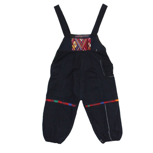 Boys overalls cotton with back-strap loom weaving