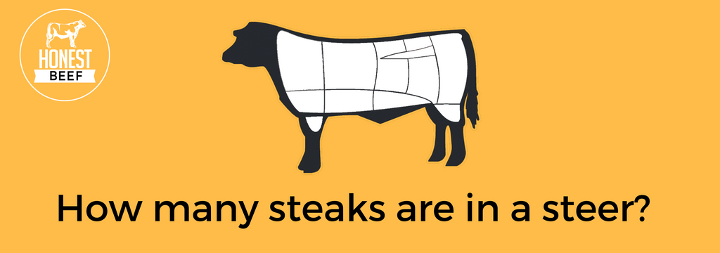 How many steaks are in a steer?