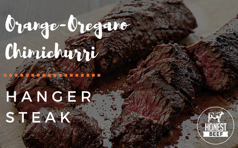 Honest Beef Orange-Oregano Chimichurri Hanger Steak