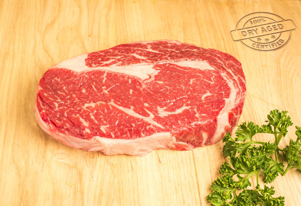 Ribeye Steak, USDA Prime, Boneless, Dry Aged From The Steak Source