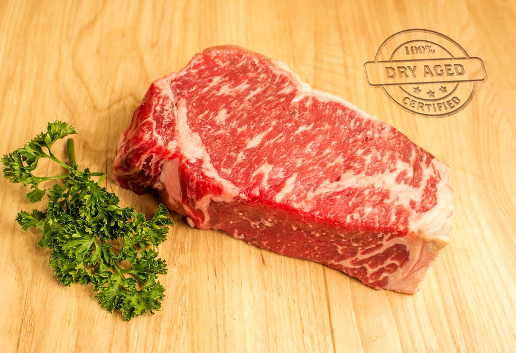 Boneless NY Strip Steak, Dry Aged, Center Cut, USDA Prime From The Steak Source