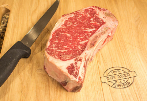 Bone-In KC Strip Steak, USDA Prime, Center Cut, Dry Aged From The Steak Source