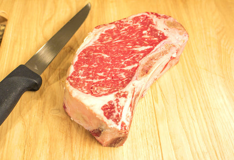 Bone-In KC Strip Steak, Center Cut, USDA Prime From The Steak Source