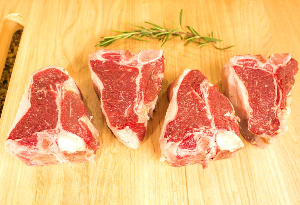 Pack of 4 Lamb Loin Chops At The Steak Source