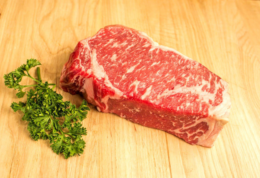 Boneless NY Strip Steak, Center Cut, USDA Prime From The Steak Source