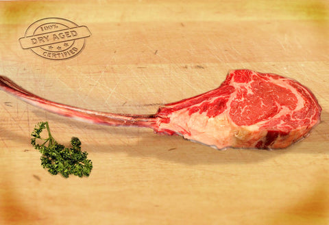 USDA Prime Long-Bone Tomahawk Steaks, Dry Aged From The Steak Source