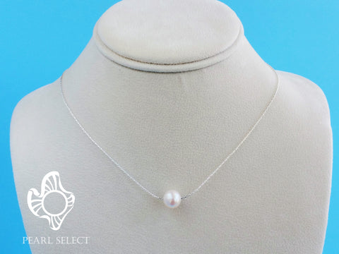 Floating Single Freshwater Pearl Necklace