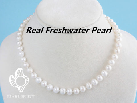 Freshwater pearl necklace 7-8mm, Bridesmaid gifts