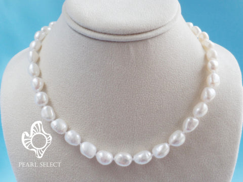 Baroque White Freshwater Pearl Necklace
