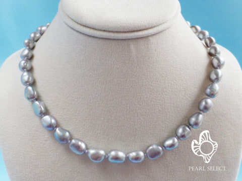 Baroque Gray Freshwater Pearl Necklace