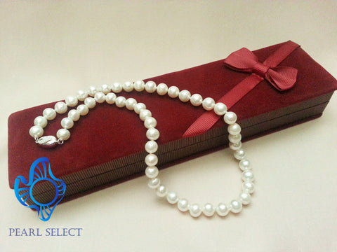 "Freshwater Pearl 17"" Necklace with Gift Box"
