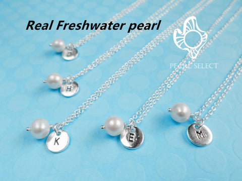Freshwater Pearl Personalized (Initial) Necklace