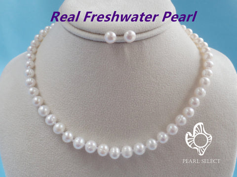 8mm Pearl Necklace Set