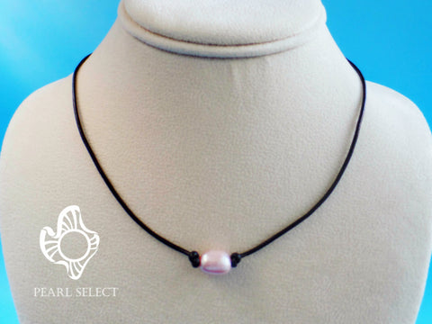 Leather Pearl Necklace Gift