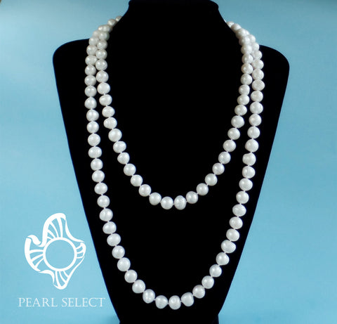 "Long 52"" Pearl Necklace"