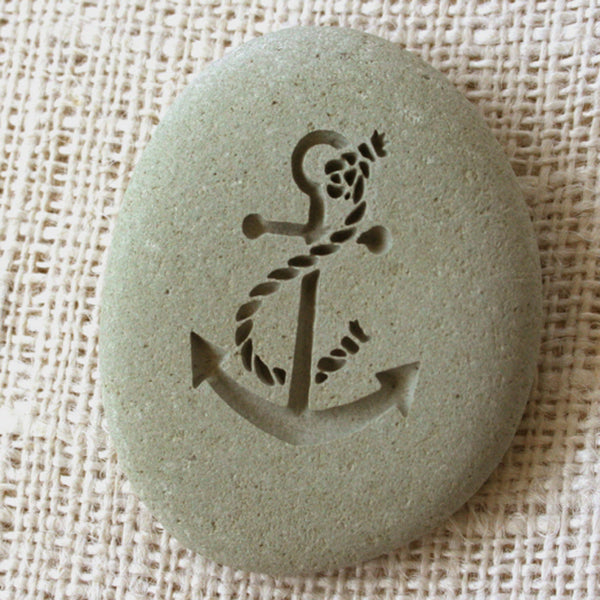 anchor souvenir, engraved stone