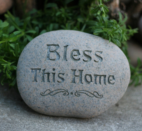 Bless this Home - Garden stone - Housewarming gift - Ready to ship