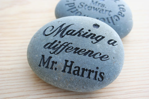 Teacher Rocks - Appreciation for Teachers - Custom Stone Engraving