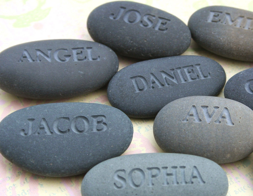 Personalized engraved gift - Engraved stone with name or word ...