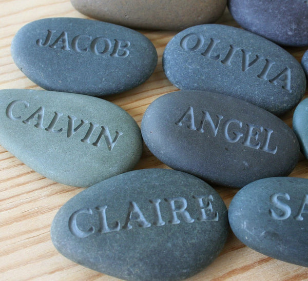 Personalized engraved gift - Engraved stone with name or word